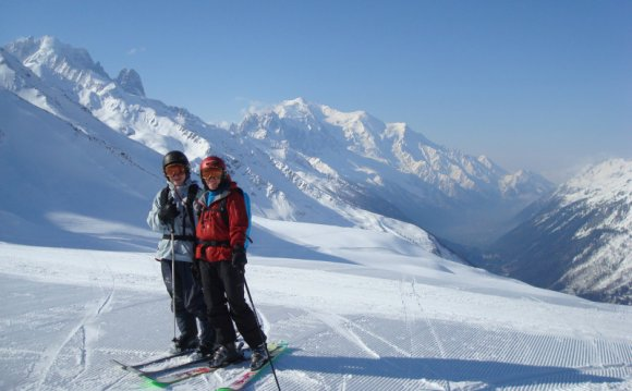 Beth and Max--Mont Blanc view