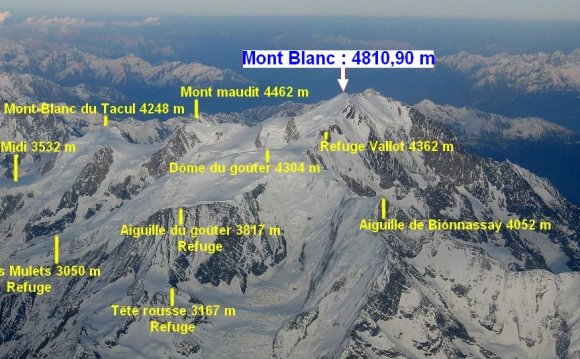 Mont Blanc, also known as