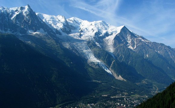 "Mont Blanc from Chamonix. """