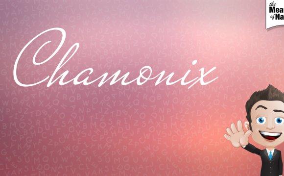 Name poster for Chamonix