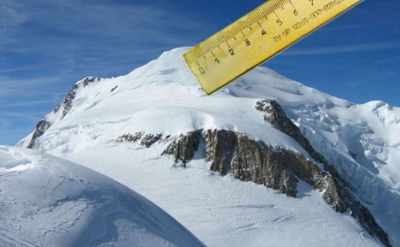 Height of Mont Blanc